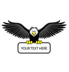 Eagle grip the blank sign vector