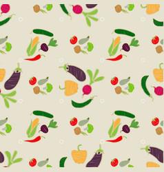 eco farmer vegetables pattern vegetables seamless vector image