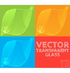 empty glass template for the price tag banner or vector image