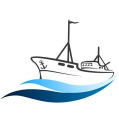 fishing boat royalty free vector image vectorstock rh vectorstock com boat vector freepik boat vectra 191s 2005