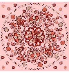 floral mandala pattern motif vector image