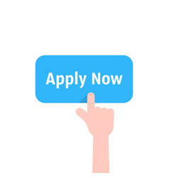 Forefinger press on apply now button vector