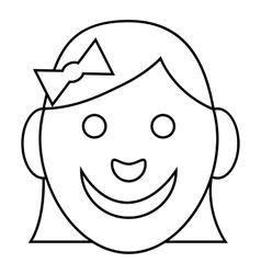 Girl icon outline style vector image
