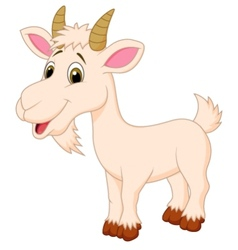 Goat cartoon character vector