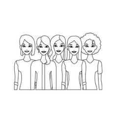 Group of women vector