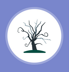 halloween tree icon sign symbol vector image