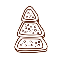 Hand Drawn Christmas Cookie vector