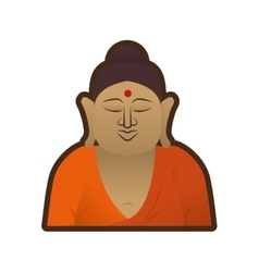 head buddha spirituality indian vector image