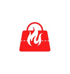 Hot bag logo design vector