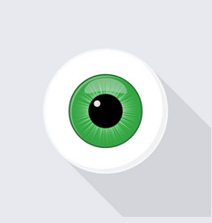 Human eyeball eye with bright green vector
