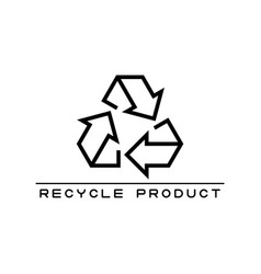 icon or logo recycling product in line style vector image