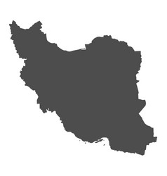 iran map in gray on a white background vector image