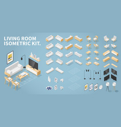 isometric living room kit vector image