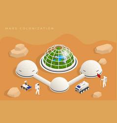 Isometric mars colonization biological vector