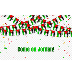 jordan garland flag with confetti on transparent vector image