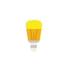 Led bulb energy electricity light flat icon vector