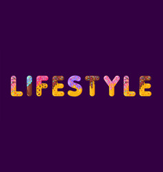 lifestyle biscuit lettering glazed gingerbread vector image
