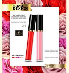 Lip gloss realistic premium cosmetics sale vector