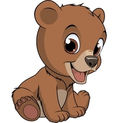 Little funny bear vector