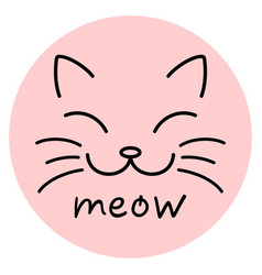 Meow cat face vector
