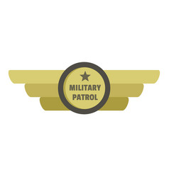 military patrol icon logo flat style vector image