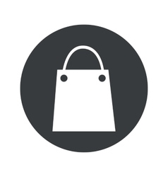 Monochrome round shopping bag icon vector image