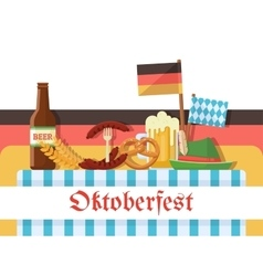 Oktoberfest celebration or banner vector image