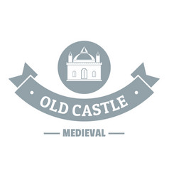 Old castle logo simple gray style vector
