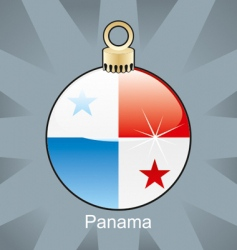 Panama flag on bulb vector image
