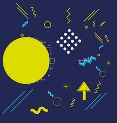 pattern of geometric figures vector image