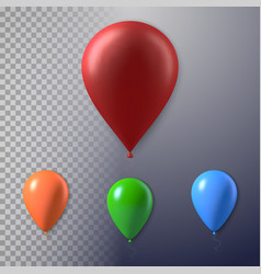Photorealistic air balloon set vector