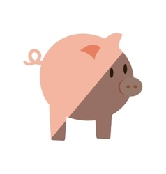 Piggy money bank flat icon vector
