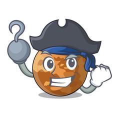 Pirate planet mercury above the sky cartoon vector