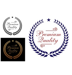 Premium quality laurel wreath logo or emblem vector