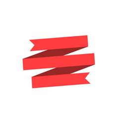 ribbon or label sticker banner flat ribbon vector image