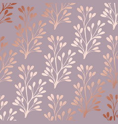rose gold elegant decorative floral pattern for vector image