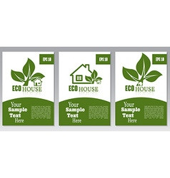 Set of flyers or cover design green house Brochure vector