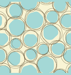 sketch child round seamless retro blue vector image