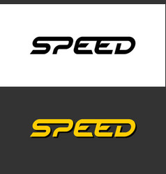 speed word dynamic logo letters with sport vector image