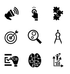 target solution icon set simple style vector image