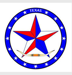 Texas star and steer horns vector