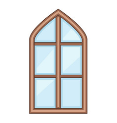 tower window frame icon cartoon style vector image