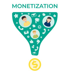 traffic monetization flat vector image