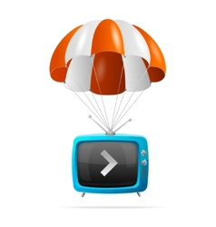 Tv and parachute vector