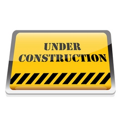 under construction board vector image