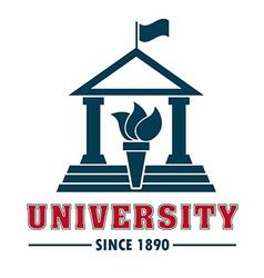 University campus vector