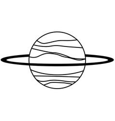 uranus planet solar system line vector image