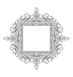Vintage calligraphic floral frame vector