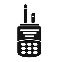 Walkie talkie icon simple style vector