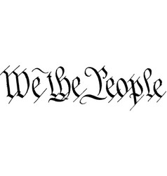 We the people text vector
